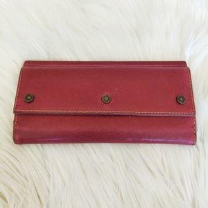 Matt & Nat Vegan Leather Slim Red Wallet
